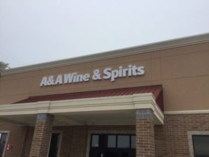 A&A Wine & Spirits sign